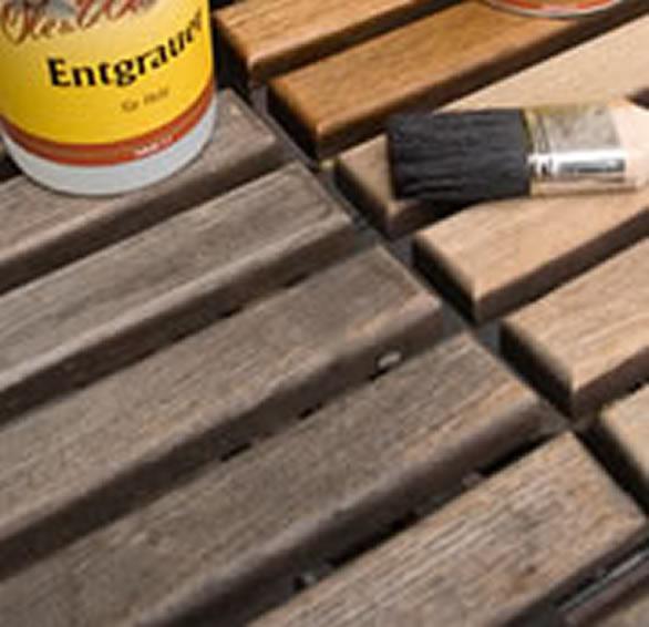 Pflege für Holz im Garten