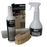 Reinigungsset für Teppiche: Spezialshampoo + Fleckenlöser + Vliestuch + Bürste